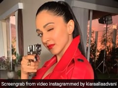 Kiara Advani's Leather Jacket Sure Paints The Town Red