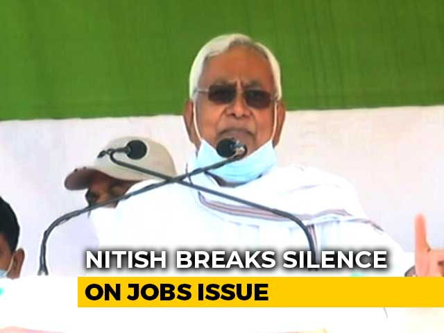 "Video : ""It's All Bogus"": Nitish Kumar On Tejashwi Yadav's 10 Lakh Jobs Promise"