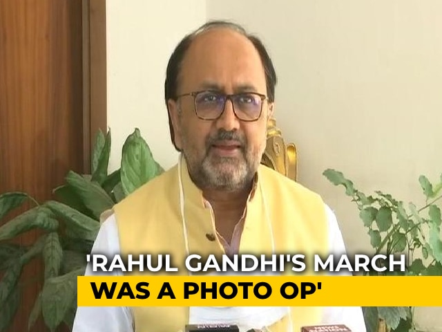 """Video : """"Rahul Gandhi Has A Track Record..."""": UP Minister's Swipe On Highway Protest"""