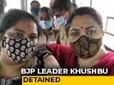 Video : BJP's Khushbu Sundar Detained During Protest Amid Manusmriti Remarks Row
