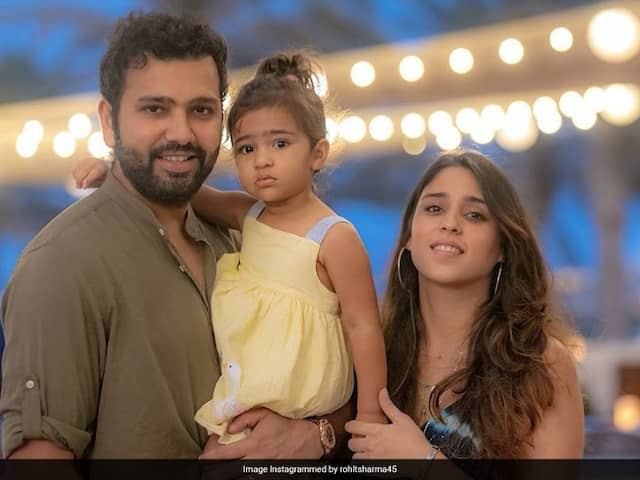 Rohit Sharma Posts A Wholesome Picture With Wife Ritika Sajdeh And Daughter Samaira