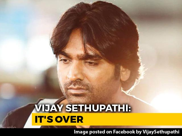 "Video : ""It's Over"": Actor Vijay Sethupathi Exits Muttiah Muralitharan Biopic"