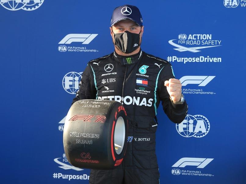 """Eifel Grand Prix: """"Spot On"""" Valtteri Bottas Edges Lewis Hamilton To Take Pole Position"""