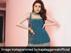 We Can't Get Over Bride-To-Be Kajal Aggarwal's Gorgeous Sharara Look