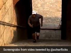 Watch: Mohammad Azharuddin Turns Back The Clock, Exercises At Humayun's Tomb. Watch