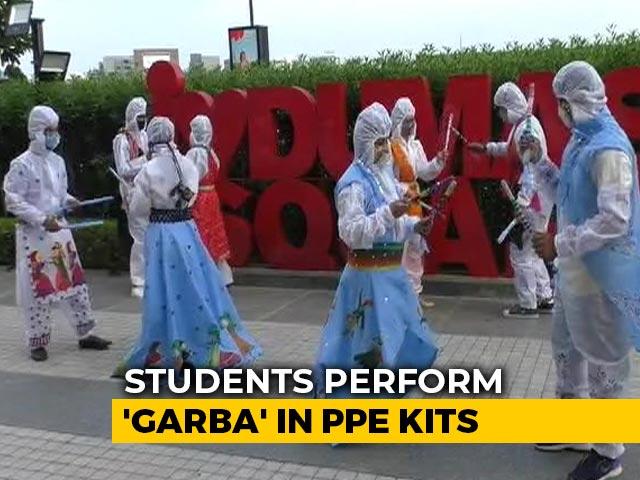 Video : Watch Garba Dance In Unique PPE Costume In Gujarat