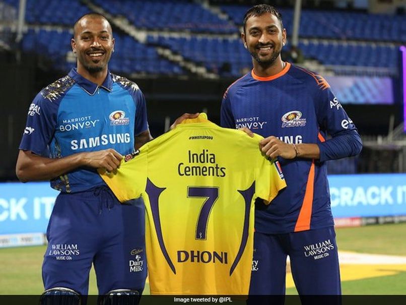 "IPL 2020, CSK vs MI: MS Dhoni Gives Away His ""No. 7"" CSK Jersey To Hardik, Krunal Pandya"