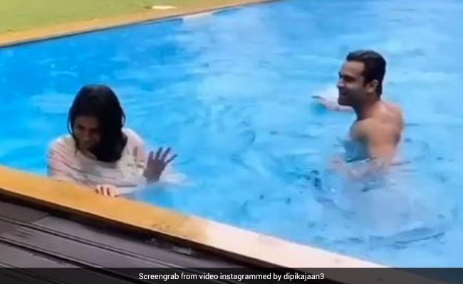 Dipika Kakkar पति शोएब इब्राहिम संग स्विमिंग पूल में मस्ती करती आईं नजर- देखें Video