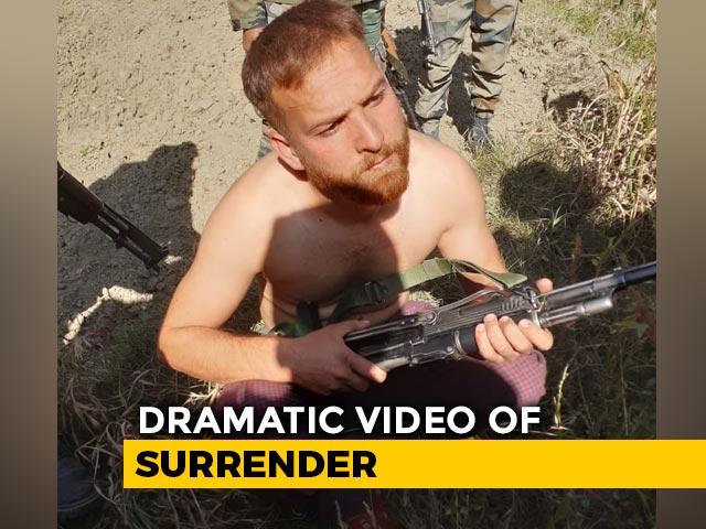 "Video : ""Nobody Will Shoot"": Dramatic Video Of J&K Terrorist's Surrender"