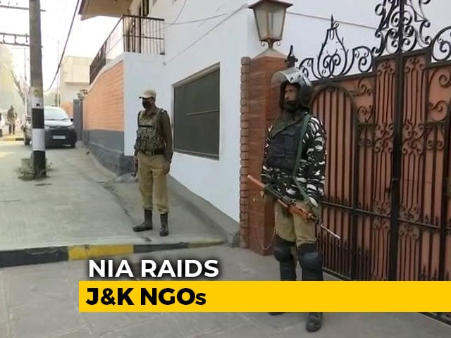 Video : Rights Activist, Kashmir NGOs, Trusts Raided In Terror Funding Case
