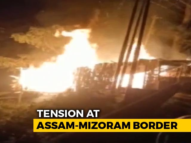 Video : Tension At Assam-Mizoram Border After Clashes Among Locals