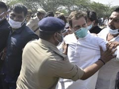 "Rahul Gandhi Detained On Way To Hathras, Asks Cops ""On What Grounds"""