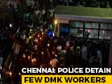 Video : DMK Leader Kanimozhi, Others Detained During Chennai Protest Over Hathras