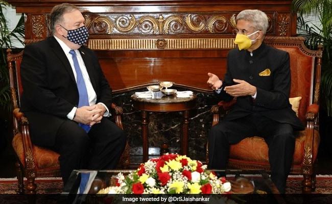 टू प्लस टू वार्ता से पहले विदेश मंत्री एस जयशंकर से मिले अमेरिकी विदेश मंत्री माइक पोम्पिओ
