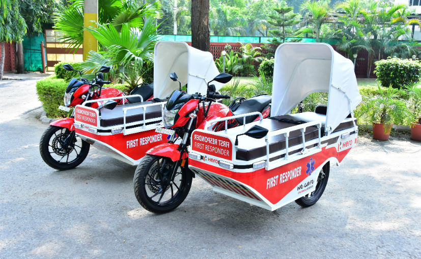Hero MotoCorp has donated 25 such FRVs till date to multiple agencies across several states