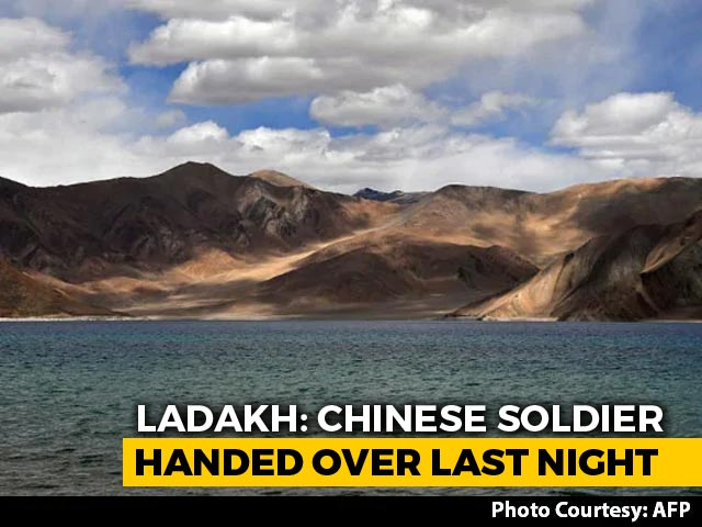 Video : Chinese Soldier, Held After He Strayed Into Ladakh, Handed Back