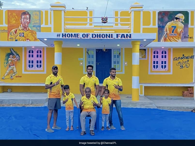 """IPL 2020: Chennai Super Kings Fans Name Their Residence """"Home Of Dhoni Fan"""". See Pics"""