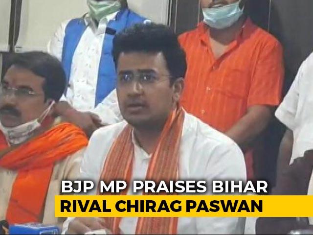 Video : BJP MP Praises Chirag Paswan, Ally Nitish Kumar's Biggest Headache
