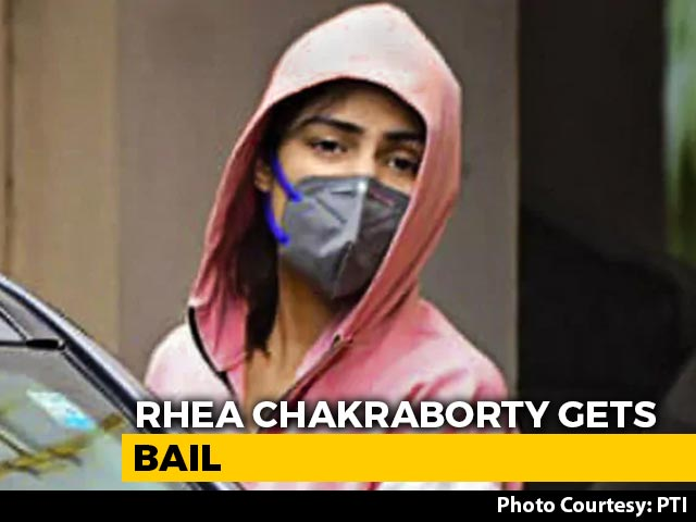 "Video : Rhea Chakraborty ""Not Part Of Chain Of Drug Dealers"": Court's Bail Order"