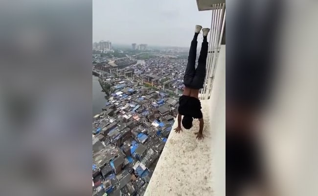 Mumbai Man Handstands On Ledge Of High Rise, Cops Now Searching For Him