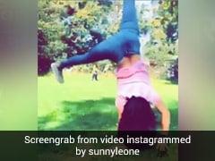 सनी लियोन बच्चों के साथ बनीं बच्ची, पार्क में यूं की कार्ट व्हील- खूब Viral हो रहा है Video