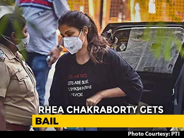 Video : Rhea Chakraborty Gets Bail In Drugs Case, No Reprieve For Brother Showik