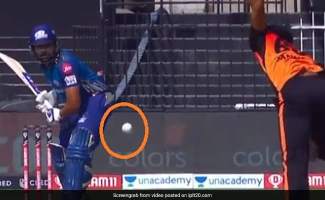 IPL 2020 Rohit Sharma dismissed on lollipop ball, after hitting six see viral video
