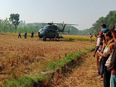 IAF Chopper Makes Precautionary Landing In UP Field, Huge Crowd Gathers