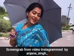 Bhojpuri: अंजना सिंह छतरी हाथ में लेकर नाचती आईं नजर बोलीं 'इश्क हुआ'...देखें Video