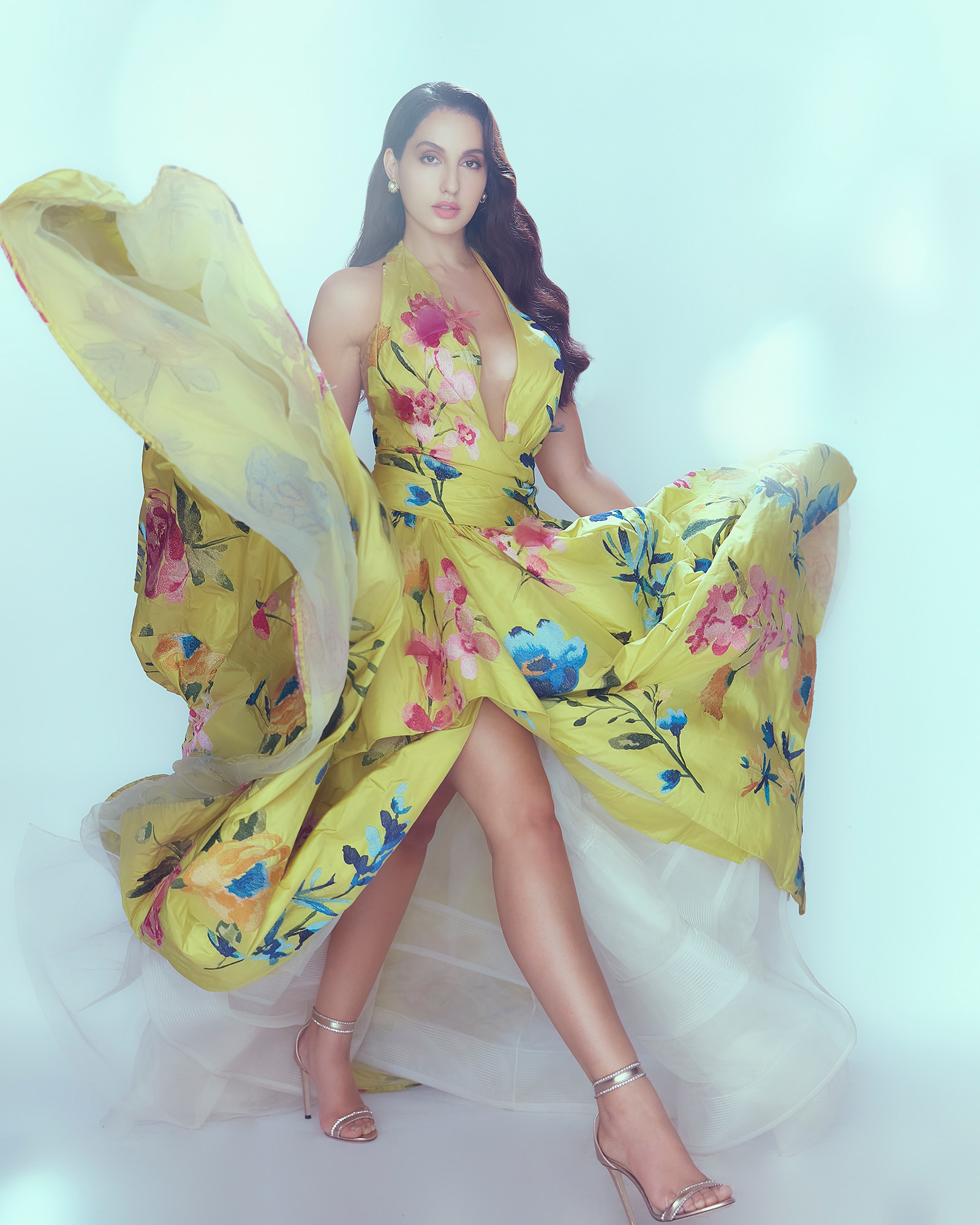 Bollywood Celebrity Fashion: Nora Fatehi Blooms Better Than Any Garden In A  Gorgeous Floral Dress