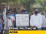 Video : Stones Thrown In Agra As Cops, Protesters Clash Over Hathras Incident