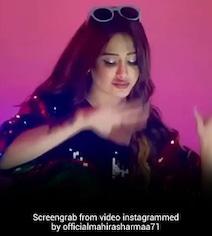 नोरा फतेही के 'नाच मेरी रानी' पर माहिरा शर्मा ने झूमकर किया डांस, देखें Video