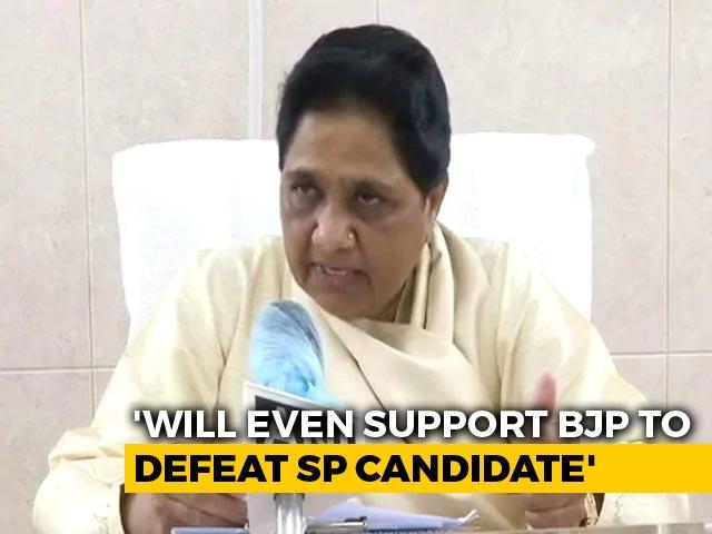 "Video : ""Even If We Have To Vote BJP..."" Mayawati Attacks Ex-Ally Akhilesh Yadav"