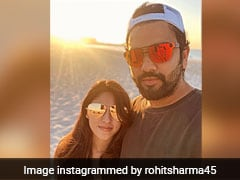 """Rohit Sharma Spends """"Relaxed Evening At The Beach"""" With Wife Ritika Sajdeh"""