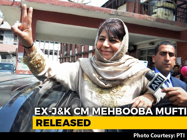 Video : Mehbooba Mufti, In Detention Since August Last Year, Released