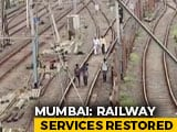 Video : Mumbai Trains Partially Restored Amid Outage, Commuters Walk On Tracks