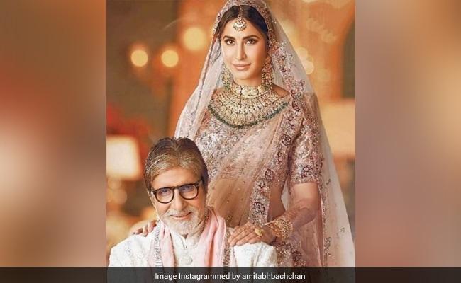 कैटरीना दुल्हन के लिबास में अमिताभ बच्चन के साथ आईं नजर, Photo शेयर कर Big B बोले- देवी जी अच्छी लग रही हैं...