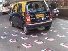 Emmanuel Macron's Posters Pasted On Busy Mumbai Road, Cops Remove Them