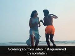 नोरा फतेही के दोस्त ने सिखाया Beach पर किया जाने वाला स्पेशल डांस, VIDEO हुआ वायरल