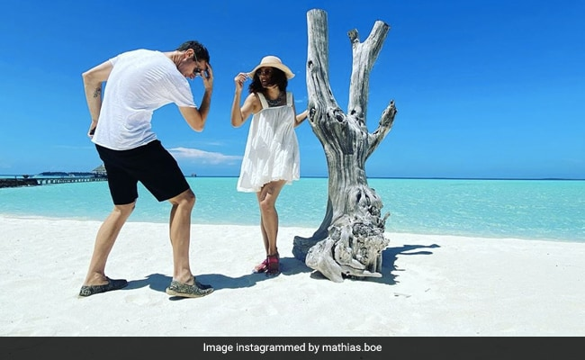 Viral: Taapsee Pannu's Pic With Rumoured Boyfriend Mathias Boe From Maldives Vacation