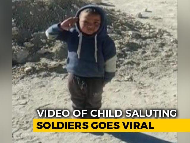 Video : Watch: Boy's '<i>Kadak</i>' Salute To ITBP Personnel In Ladakh Wins Twitter