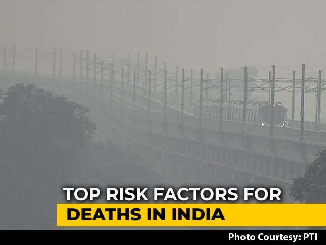 Video : Air Pollution Tops List Of 5 Biggest Risk Factors For Death In India In 2019: Study