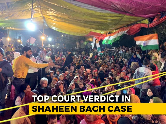 """Video : """"Public Places Can't Be Occupied Indefinitely"""": Top Court On Shaheen Bagh"""
