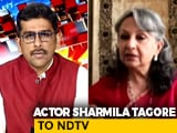 Video: Media Behaving With Complete and Utter Impunity': Actor Sharmila Tagore