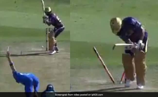 Anrich Nortje threw the ball like a bullet, blew the batsmans stump Watch video IPL 2020
