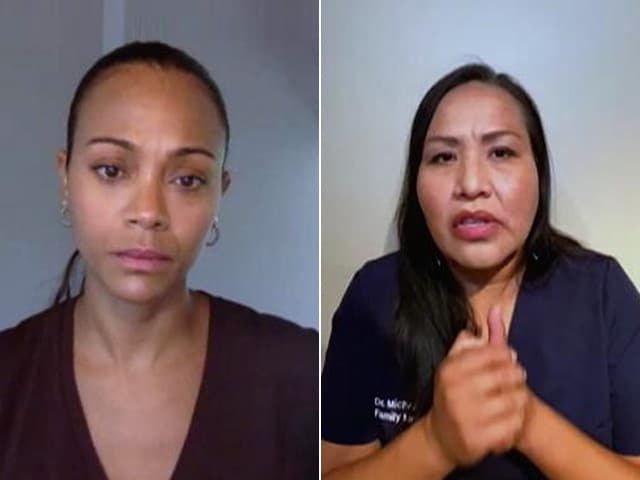 Video : COVID-19 Warrior Opens Up To Zoe Saldana About Her Experience Of Dealing With The Pandemic