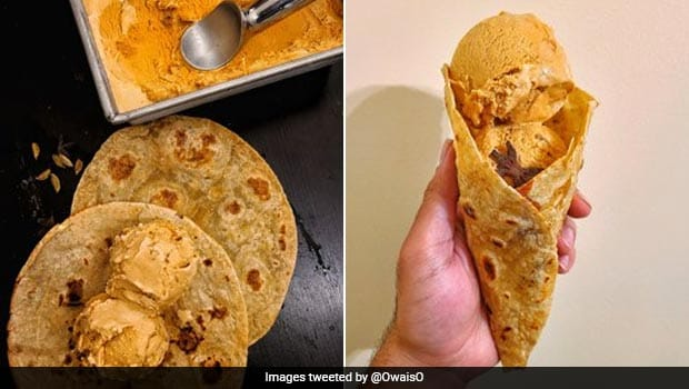 Viral Twitter Pic Pairs Chai Ice Cream With Sugar Parantha, Intrigues Netizens