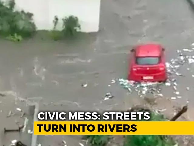 Video : Car Seen Floating As Bengaluru Streets Flooded After Heavy Rain