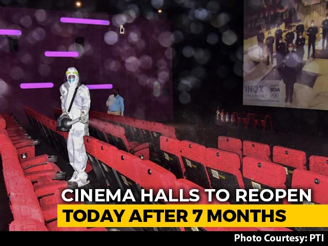 Video : Cinema Halls Open Today In Many States; Seat Markers, Sterilised Popcorn