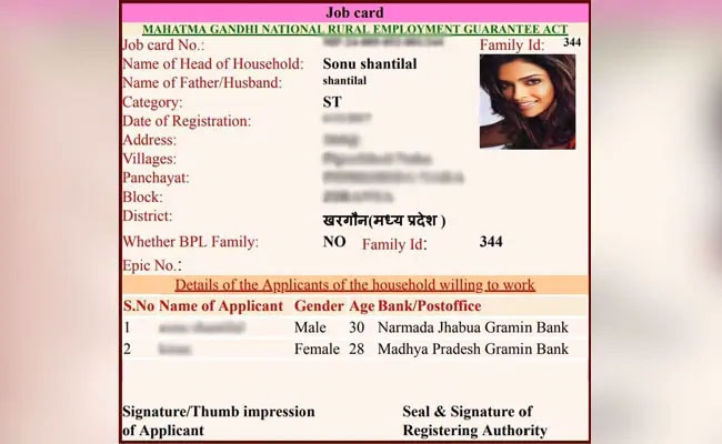 Deepika Padukone, Other Actors On Fake Rural Job Cards In Madhya Pradesh